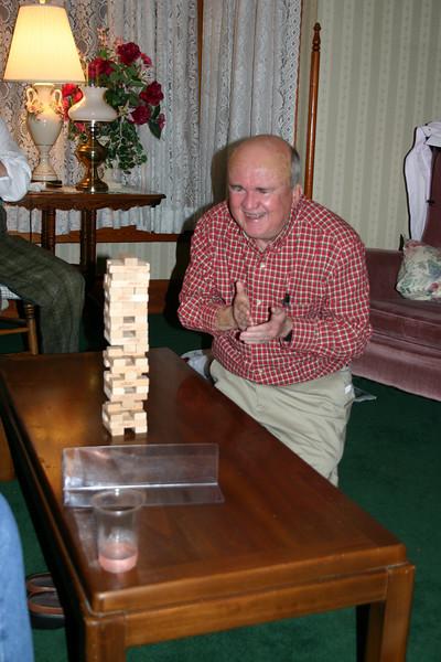 Bob enjoying the thrill of success!