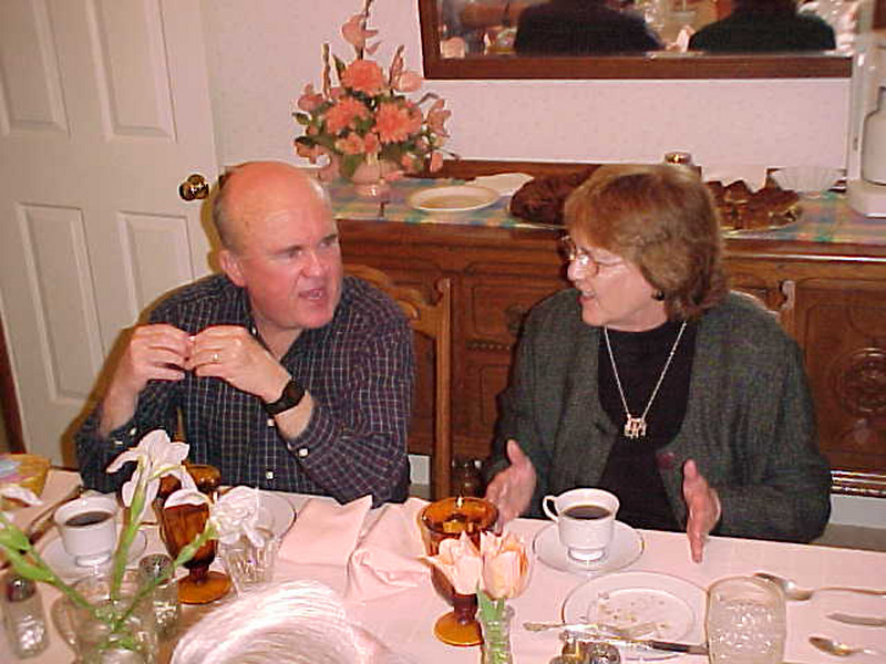 A Christmas gathering at the Vaughts in Jackson, I believe.  This is Bob with Betty Crowell.