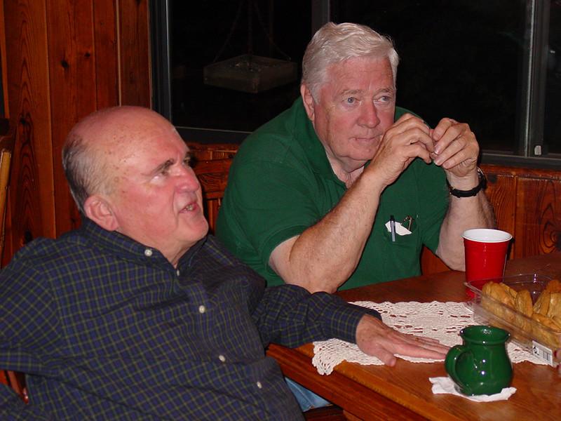 Bob and Doug Tanner ruminating.