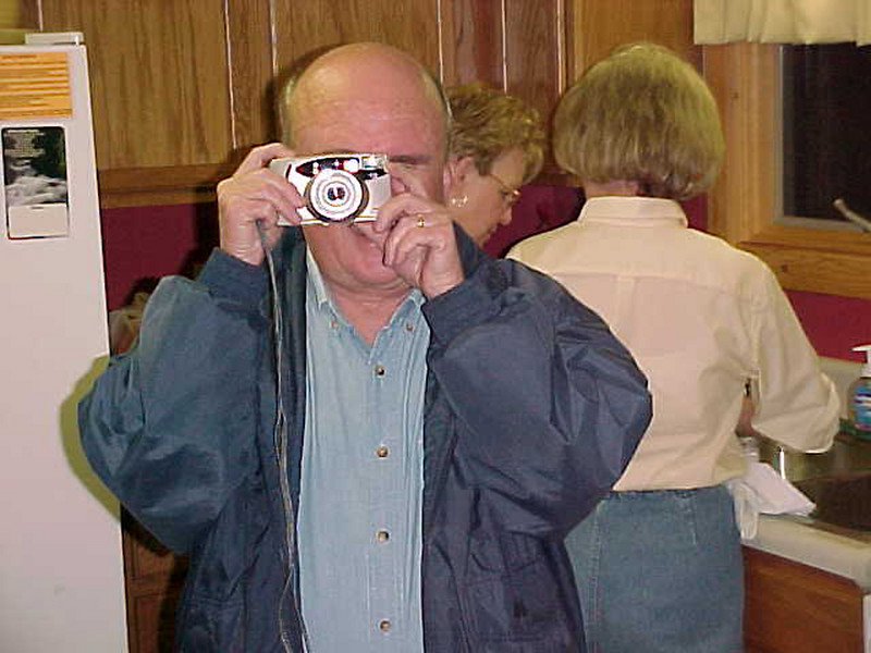 """Bob was not averse to a little foolishness -- here he engages in a bit of a """"Mexican Photo Standoff"""" with photographer Miller."""