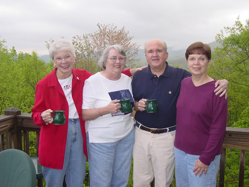 From the left:  Neallia Tanner, Betty Crowell, Bob, and Carol Casey.