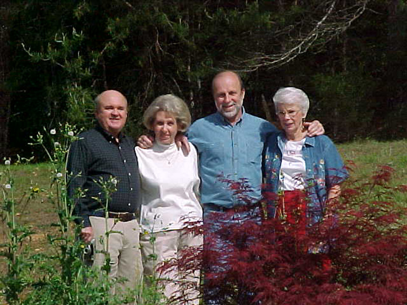 In the Smokies, Bob and Jimmie Ray with Warner Ray and Neallia Tanner.