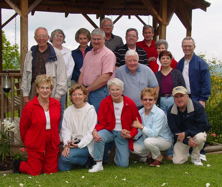 """This is our collection of """"April Group"""" folks at one of our first gatherings in the Smokies at Little Greenbrier."""
