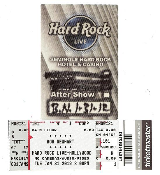 Bob Newhart at Hard Rock