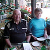 Bob and Anne Oehrtman dining at a restaurant in Copenhagen's Tivoli Garden in 2000.