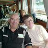 Bob and Anne enjoying lunch during a cruise down the Rhein.