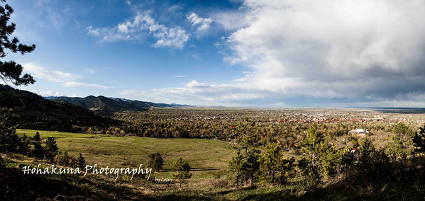 5 shot panoramic stitch view of Boulder from Chautauqua Park