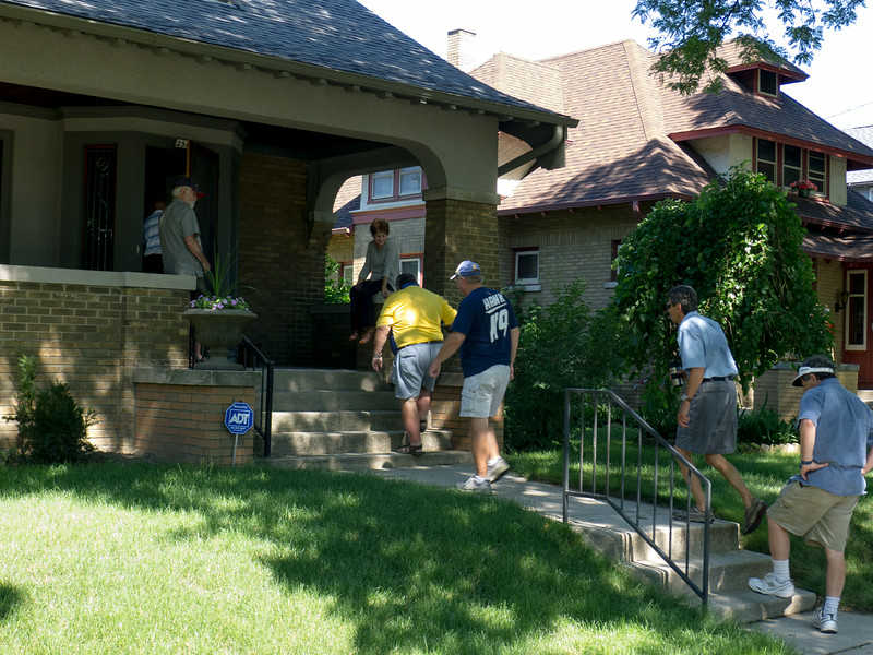We arrive at Dick And Kathy's beautiful house, located on Humboldt Ave on Milwaukee's East Side