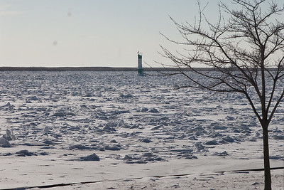 Ice packed St Clair River