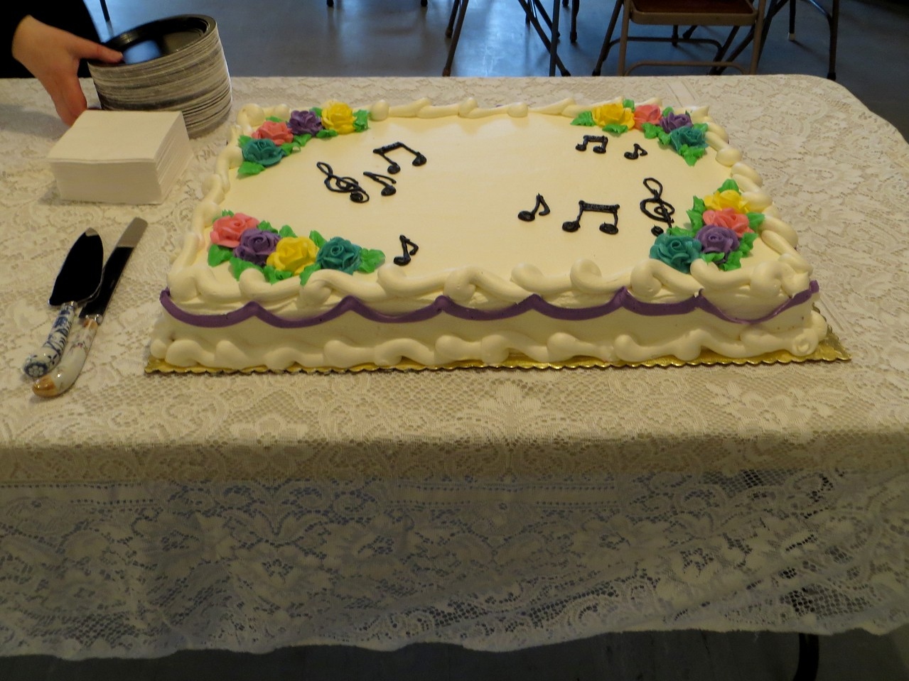 Lovely and delicious cake donated by Patty Cakes Bakery in Rocky Hill