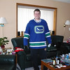 Andrew with his new Canucks jersey