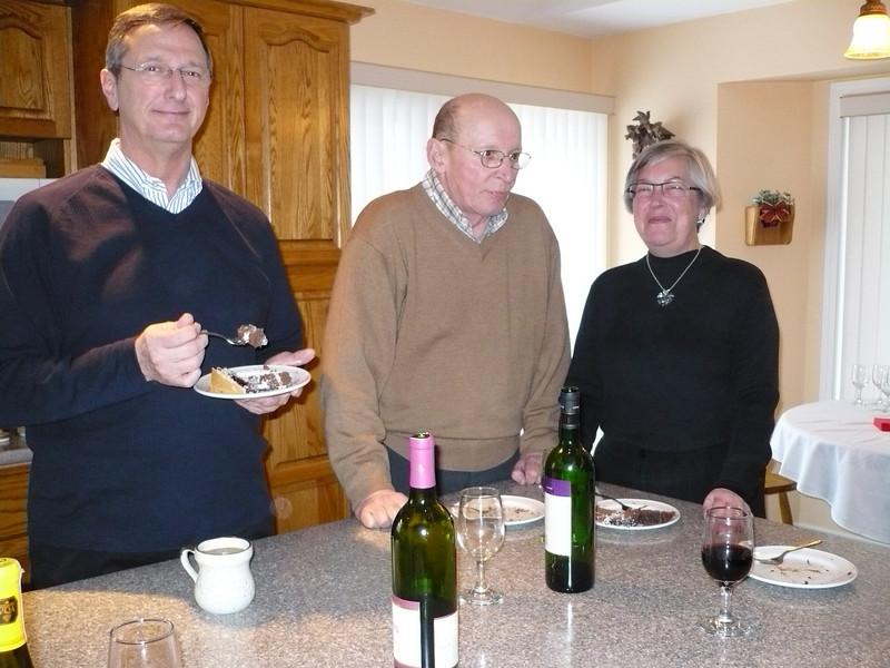 Richard, David & Lynn at brunch on 21st