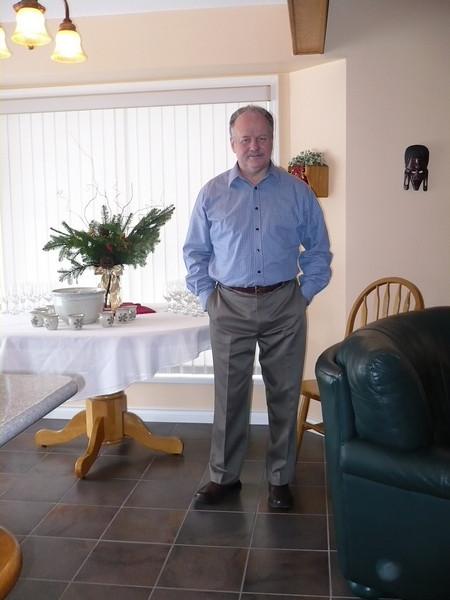 Wayne waiting for brunch guests on Dec 21st