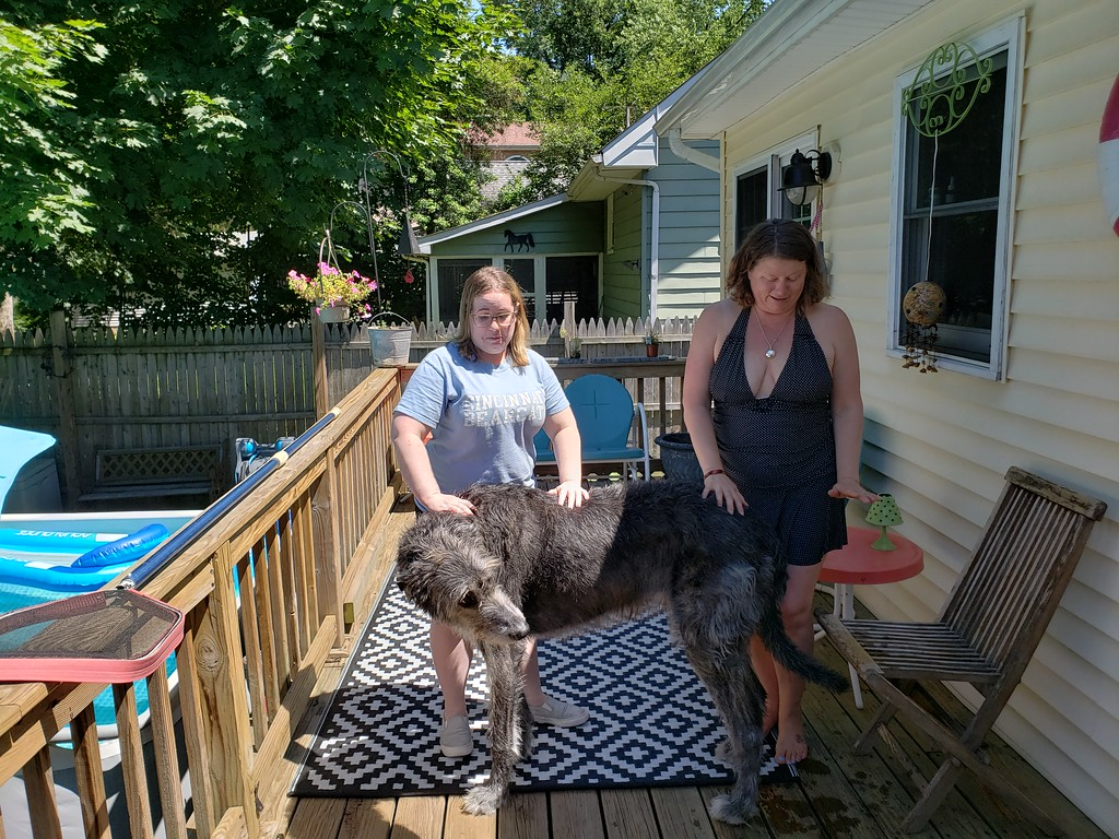 Jill, Mary, and Big Dog