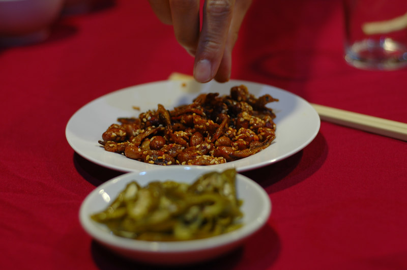 Spicy nuts with ikan bilis