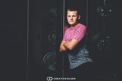 071317 Cade Mueller Senior Portrait Session