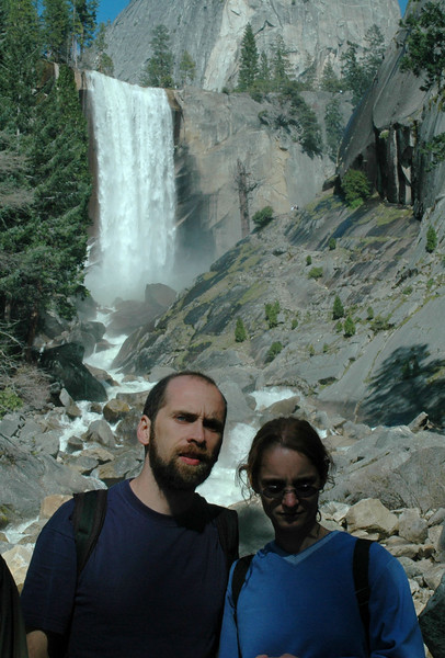 Vernal Falls in the background