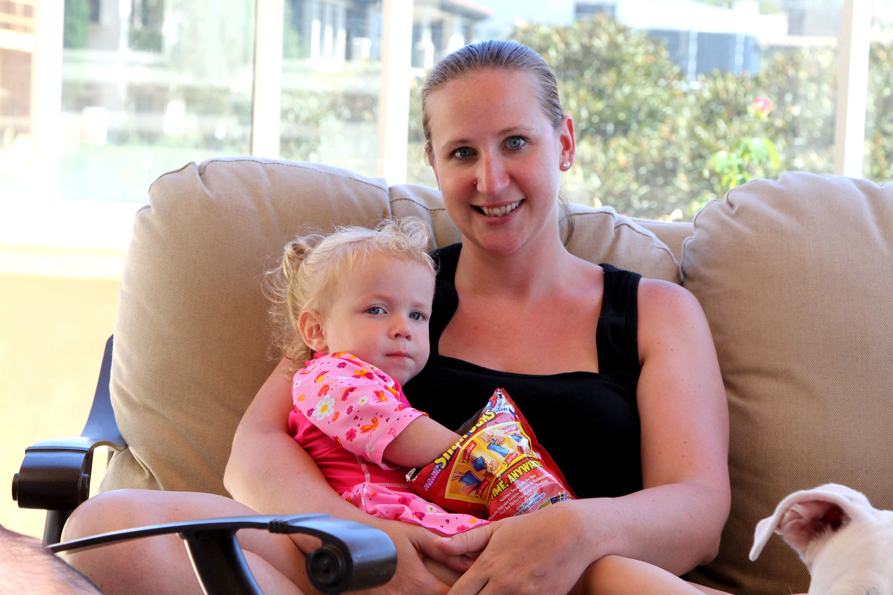 Becca with daughter, Luci 8-16-2014.
