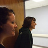 The labor and delivery room we were in was right across from the OR where Becky and David were...so we were listening for a baby cry. We look like turtles here!