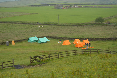 The camp takes shape