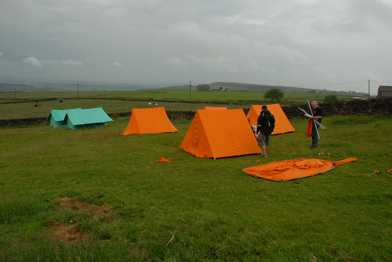 One tent to go...