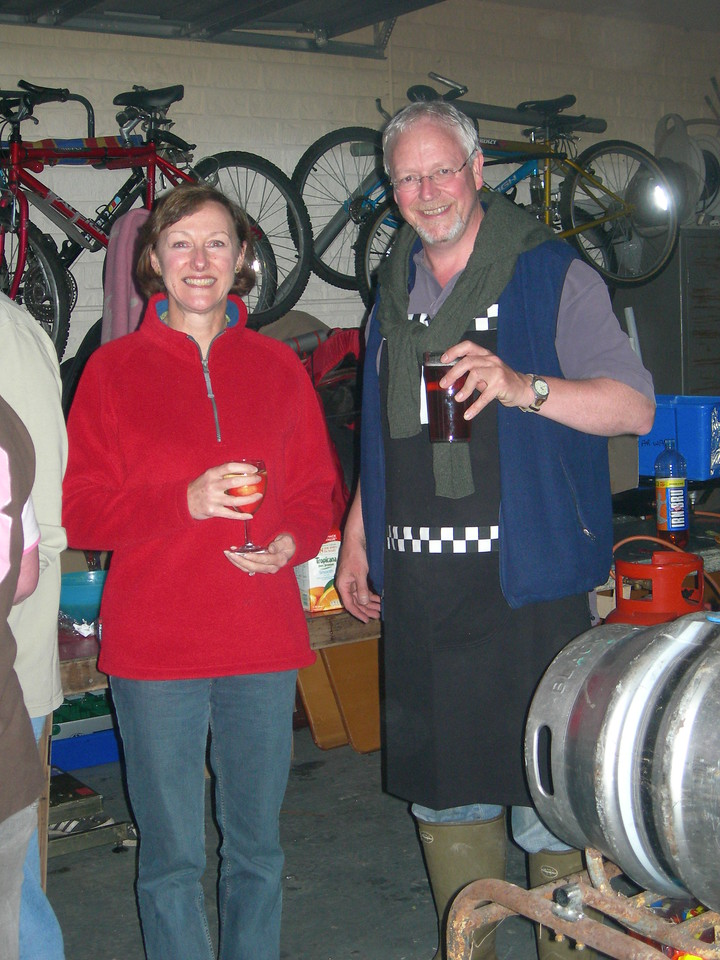 Julie thinks: why am I standing in this garage on a cold Friday night with this old git? He thinks: Why have I just dipped my finger in my pint?