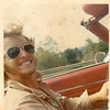 On the way to Prince Edward Island. Steve and I cruising in my 1968 Camaro.