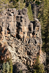 Rock Formation Near Canim Falls