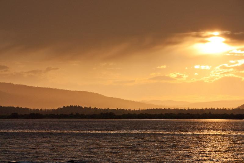 Sunset on Canim Lake