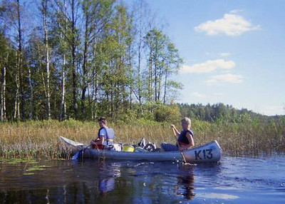 Canoeing in Sweden, September 2004