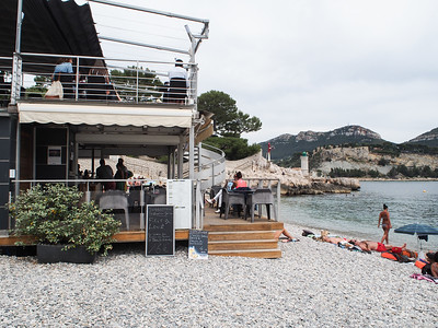 Lunch restaurant, Bestouan Beach, Cassis