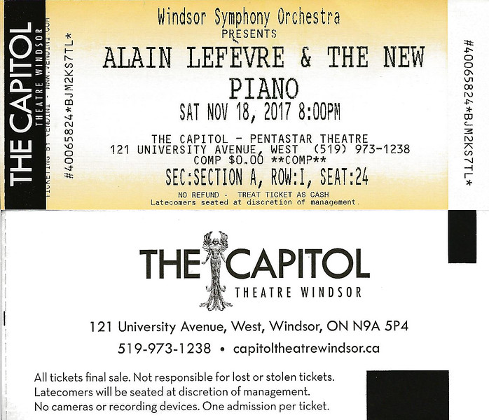 WSO Concert Ticket