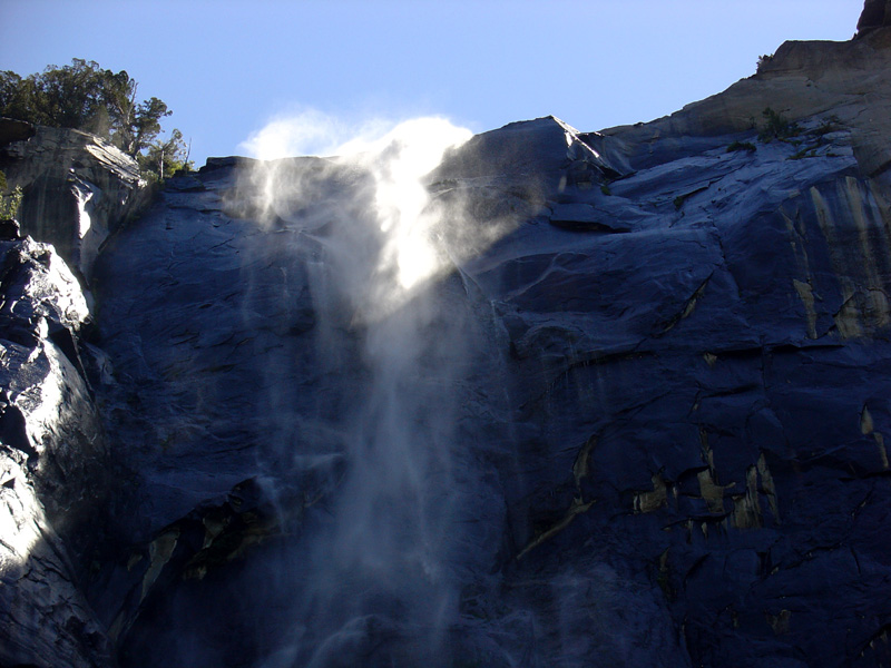 Bridal Veil falls was more of a spray than falls
