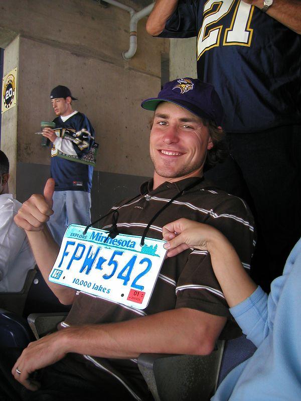 Josh, the diehard Vikings fan in the group