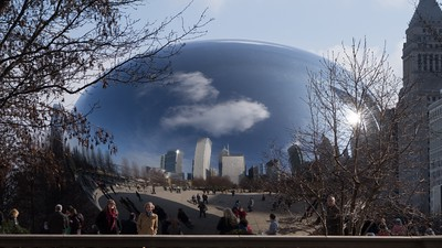 'Cloud Gate' - Anish Kapoor's marvel - impolitely but affectionately called The Bean by locals