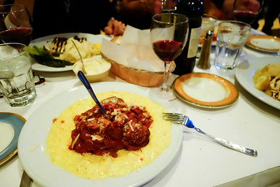 We headed up towards the Second City Review: delicious Italian food at the nearby and obviously very popular Topo Gigio restaurant- osso buco, eggplant parmigiano, etc