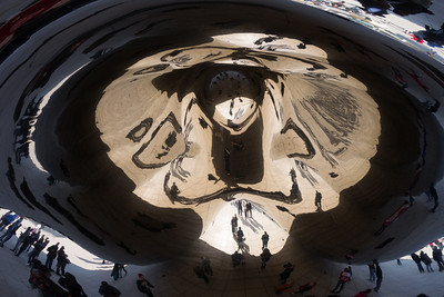 Underneath The Bean - the deeply concave undersurface