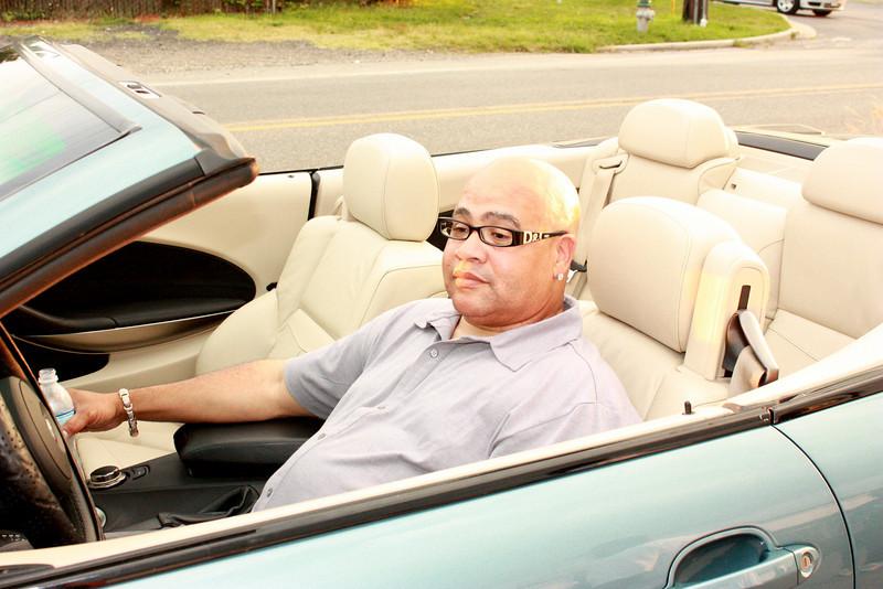 Big Vic Chillin in his new ride.
