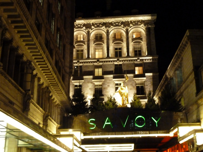Heading to the revamped Savoy for cocktails.