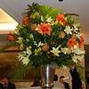High Tea at Fortnum and Masons.  Stunning flower arrangement.