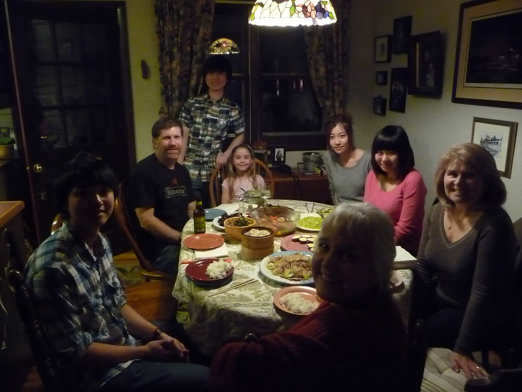 Cong, Nathan, Aaron, Annie, Mung Gi, Yiwei, Kathy, Carla at Chines New Year