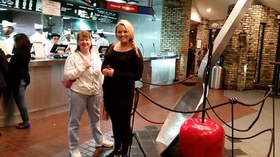 Necessary first stop on Chloe's visit to Wisconsin was Kopp's Custard in Milwaukee.