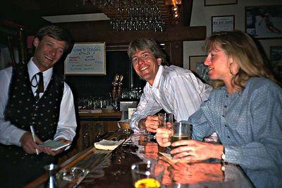 Starting a long night at Stiegler's (Jackson Hole 1980s)