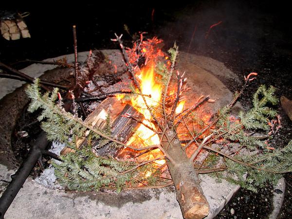 Christmas Tree Burning
