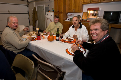 More smiling eaters, Steve, George, Jerry and Pete