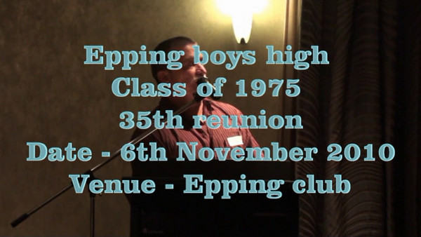 Epping boys class 1975 reunion video 1