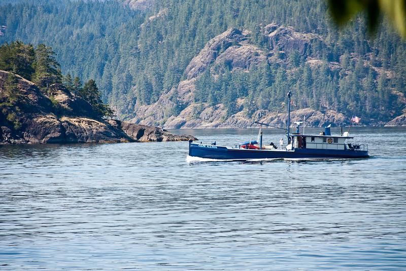 Boats Crossing near Herriot Island