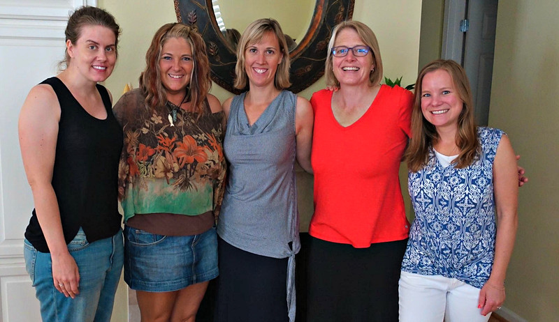 Reuniting with these lovely ladies after having worked together in college 20 years ago at UND. Love them!