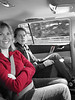Reunited, and in the back seat!!! Amanda and Tracy and I.....