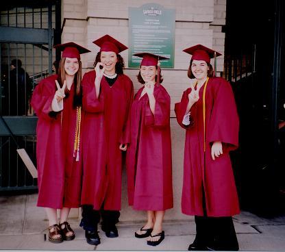 Graduation: Me, Stephanie, Marina, Jilian